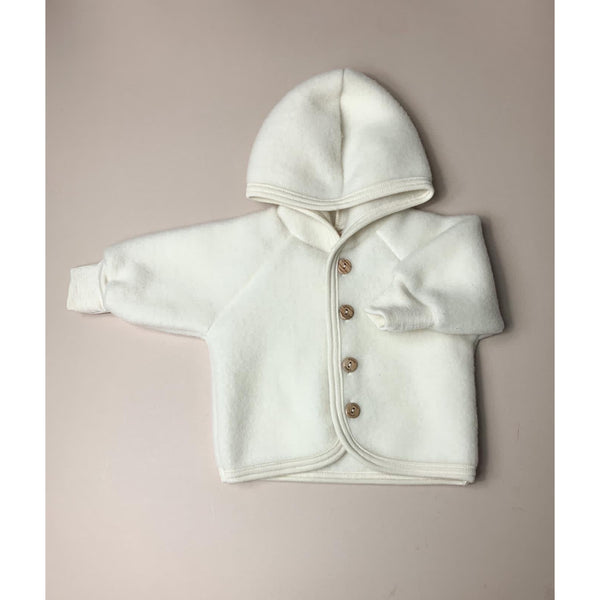 ENGEL NATUR NATURAL WOOL HOODED JACKET