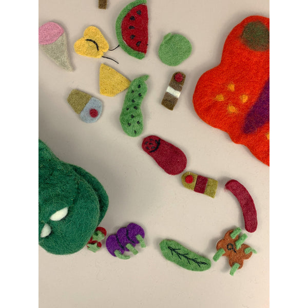 PAPOOSE FELT WOOL THE VERY HUNGRY CATERPILLAR STORY PUPPET