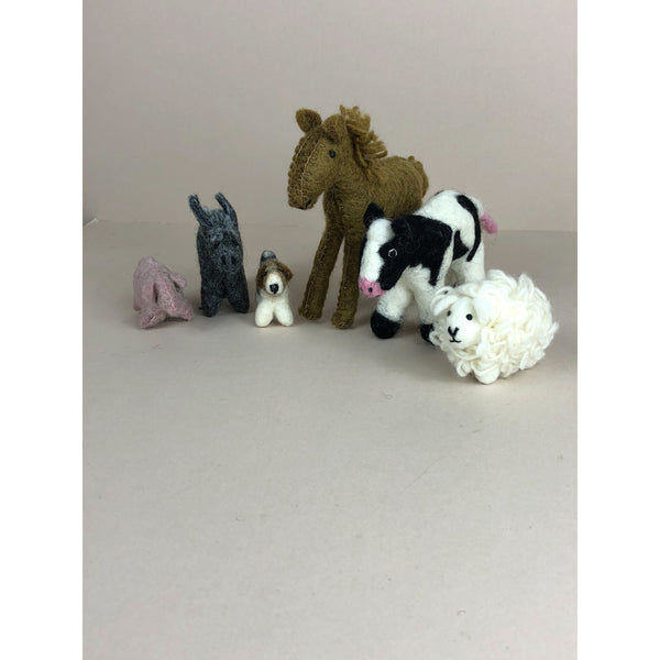 PAPOOSE FELT WOOL COUNTRY ANIMALS