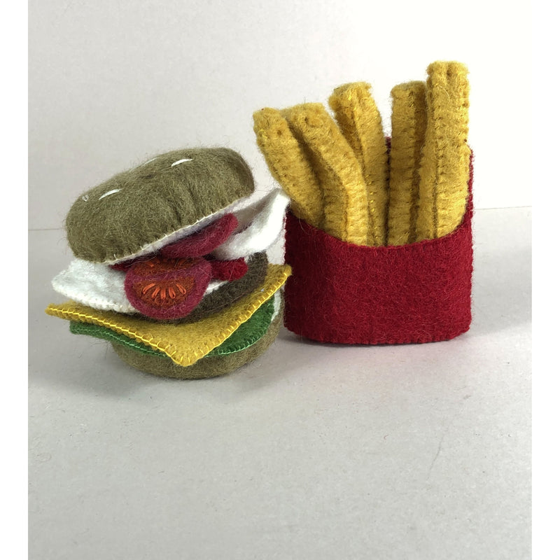 PAPOOSE FELT WOOL BURGER AND CHIPS