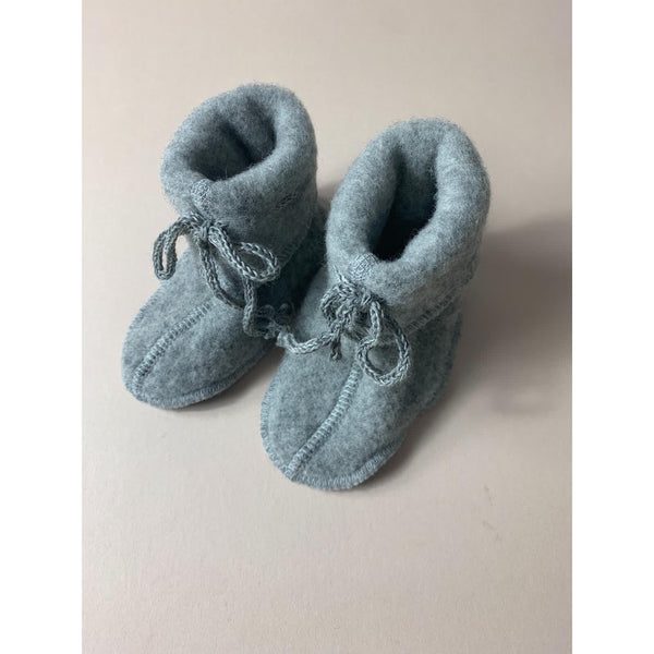 ENGEL NATUR GREY MELANGE WOOL BOOTIES