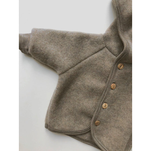 Engel Natur Walnut Wool Hooded Jacket