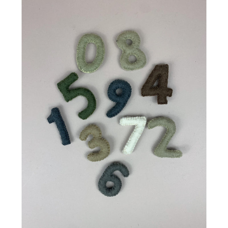 PAPOOSE FELT WOOL NUMBERS