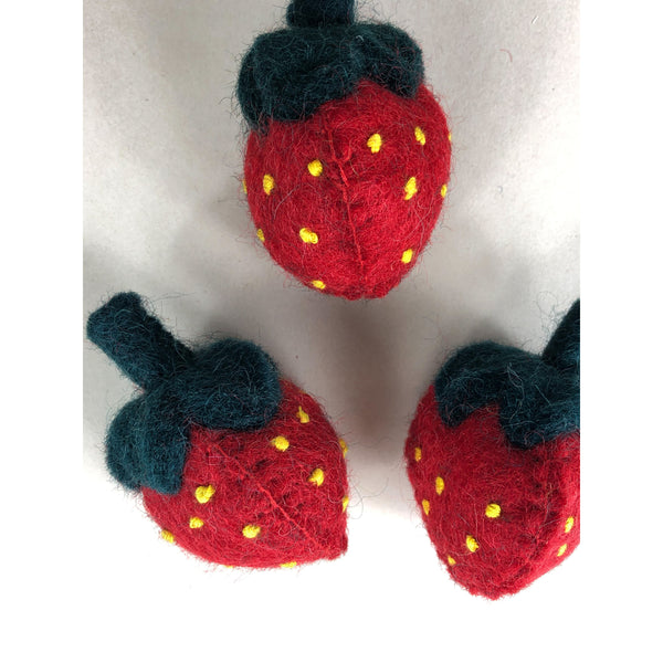 Papoose Felt Wool Strawberries