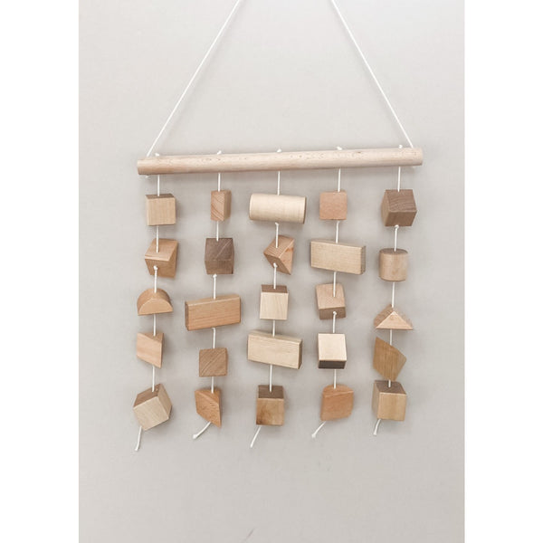 Irregular Forms Wooden Mobile