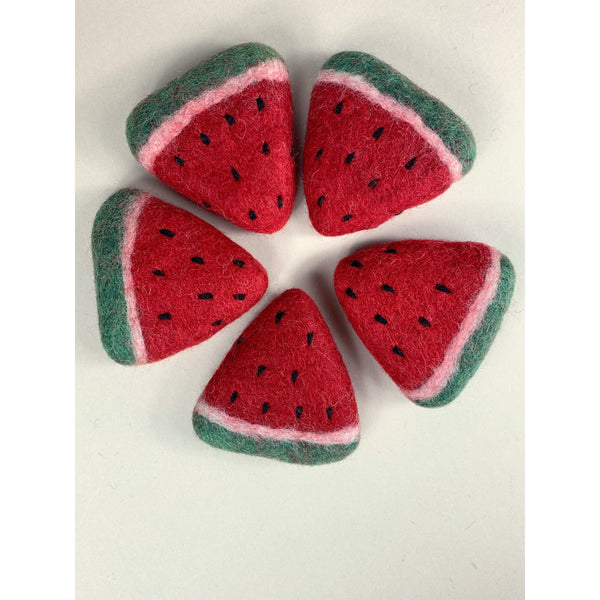 PAPOOSE FELT WOOL WATERMELON SLICES - 2 PIECES