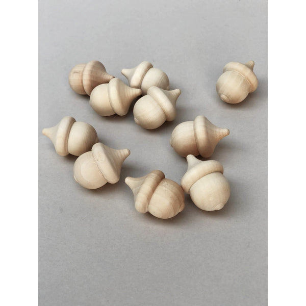 Wooden Loose Part Play Acorns