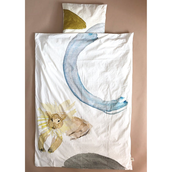 LEOLEO 'LEO' WATERCOLOUR JUNIOR BEDDING