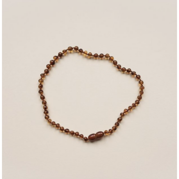 LILLE COGNAC POLISHED AMBER NECKLACE