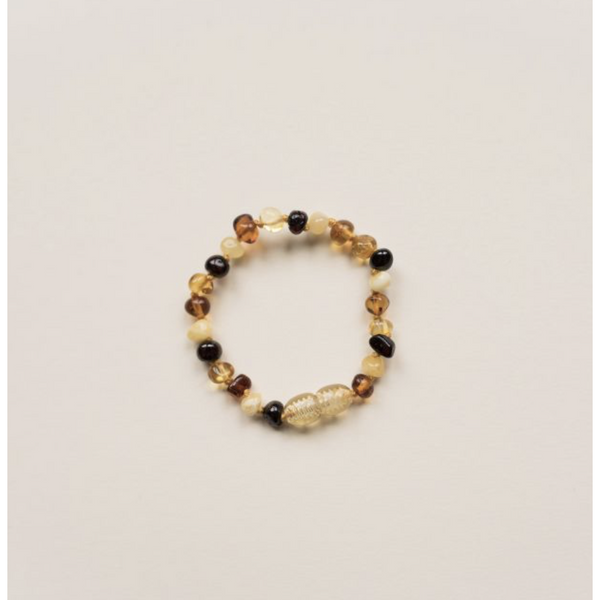 LILLE MULTICOLOURED POLISHED AMBER BRACELET