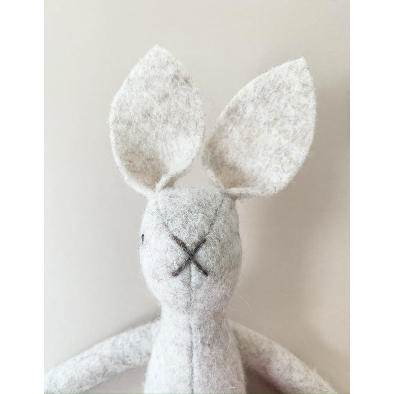 MIMS HERITAGE CREAM NATURAL WOOL BUNNY