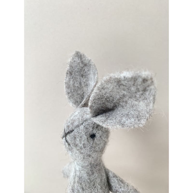 MIMS HERITAGE FAWN NATURAL WOOL BUNNY