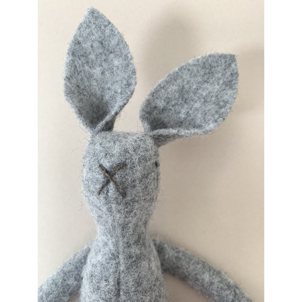 MIMS HERITAGE GREY NATURAL WOOL BUNNY