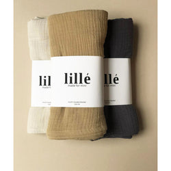 LILLE BEIGE MUSLIN HOODED SWADDLE