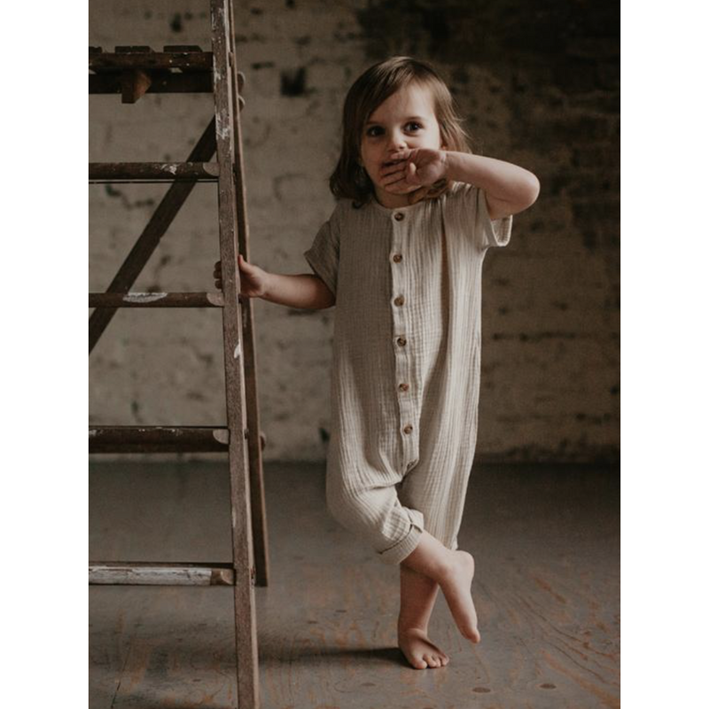THE SIMPLE FOLK CAMEL ARCHER ROMPER