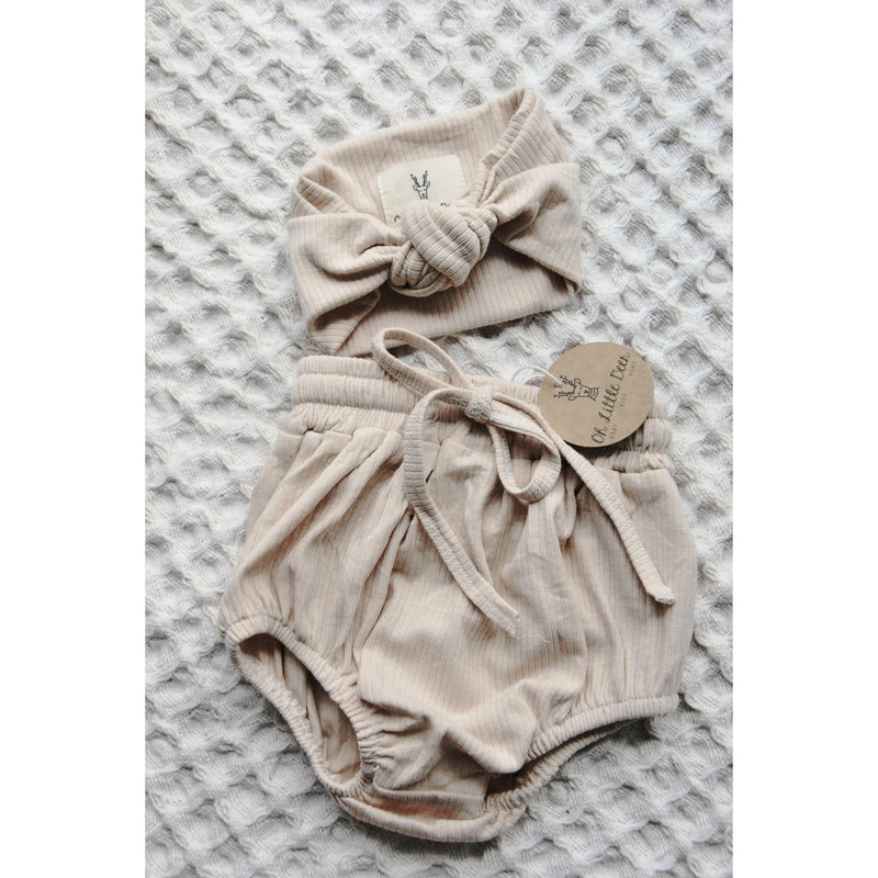 OH LITTLE DEER SEASHELL HAIRBAND + BLOOMER SET