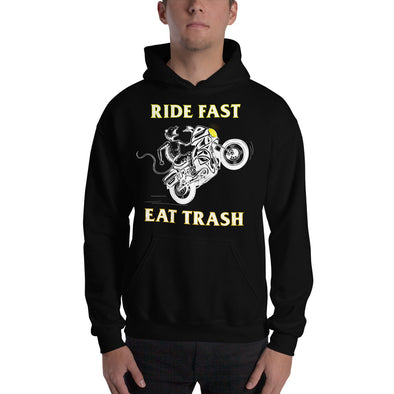 Ride Fast Eat Trash White/Gold Hoodie