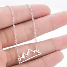 Load image into Gallery viewer, Adventure Necklace - Snowy Mountain