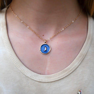 Chiara Charm Necklace - Moon