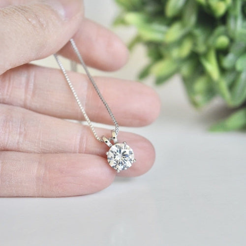 Round Sparkle Pendant Necklace