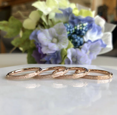 18K Rose Gold Dainty Ring (Sizes 5-8)