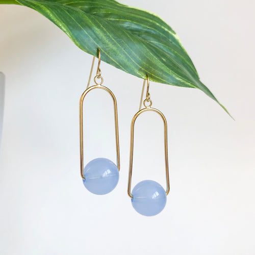 Lucille drop earrings - Blue