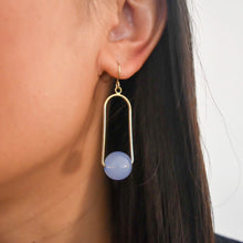 Load image into Gallery viewer, Lucille drop earrings - Blue