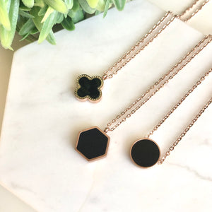 Meredith Double Roman Ring Necklace