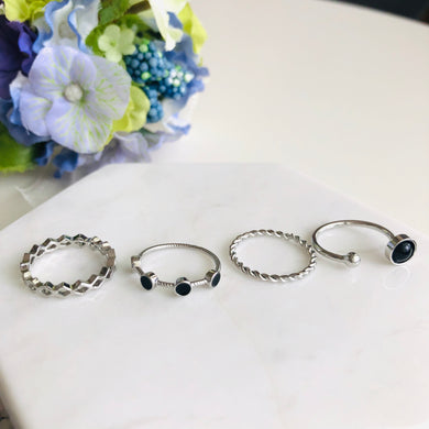 Silver Stacking Ring (4 Styles)