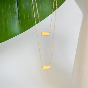 Raise the Bar Necklace (Gold/Rose Gold)