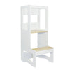 Evo Adjustable Learning Tower | White & Birch