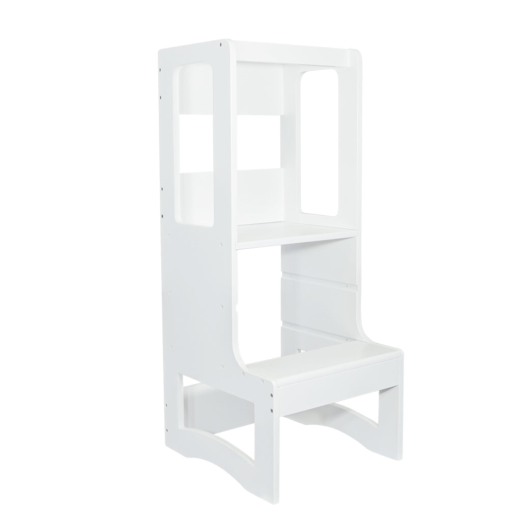 Evo Adjustable Learning Tower | White