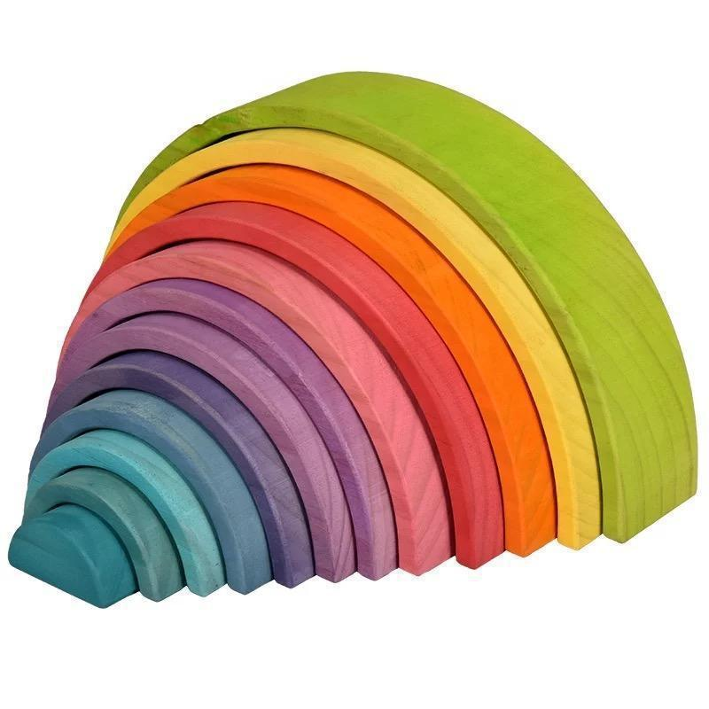 Wooden Rainbow Stacker | Pastel