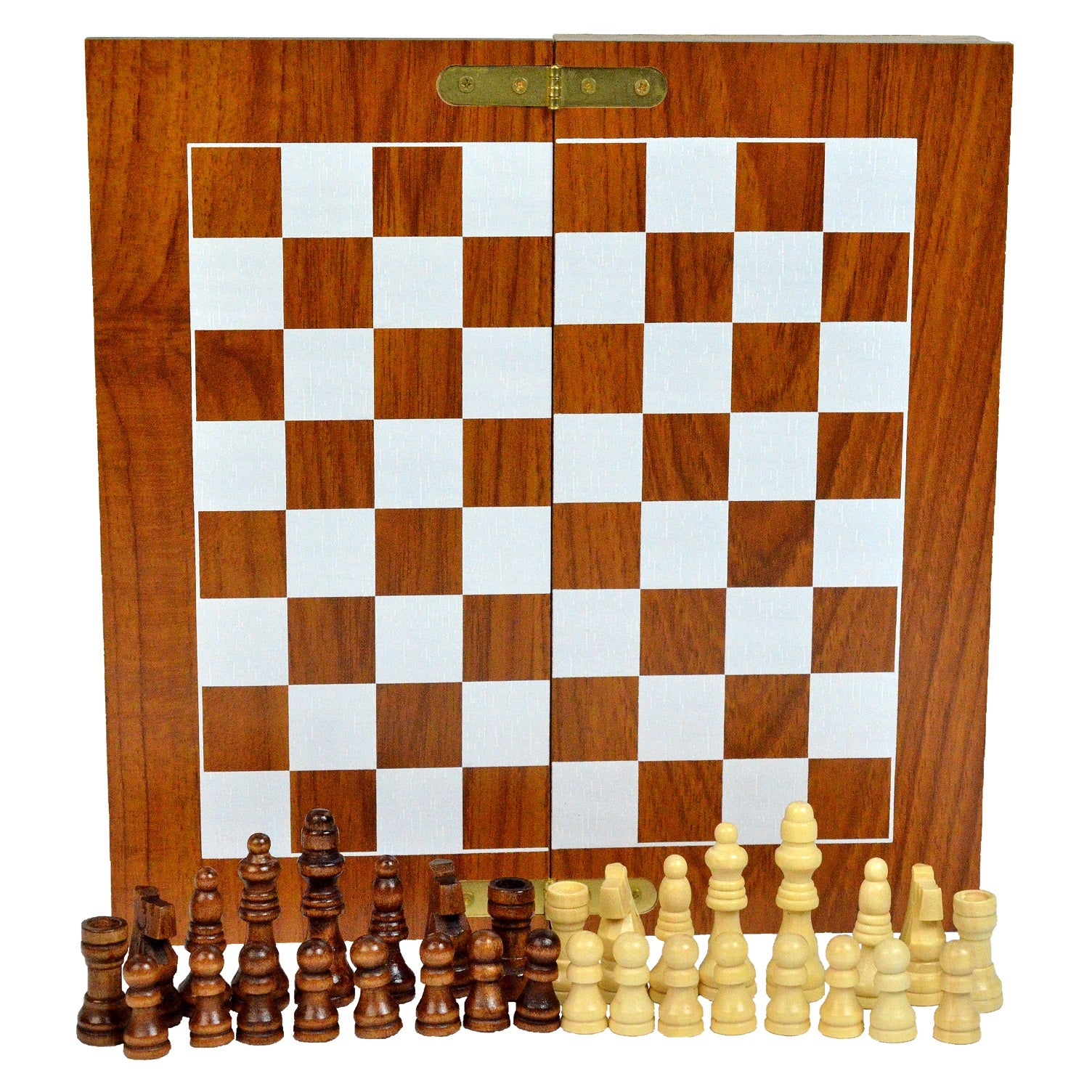 Chess Armory Box Chess Set | Compact Collapsible Folding Chess Set