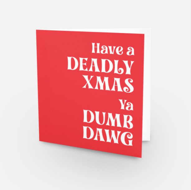 Upsell Deadly Xmas card red