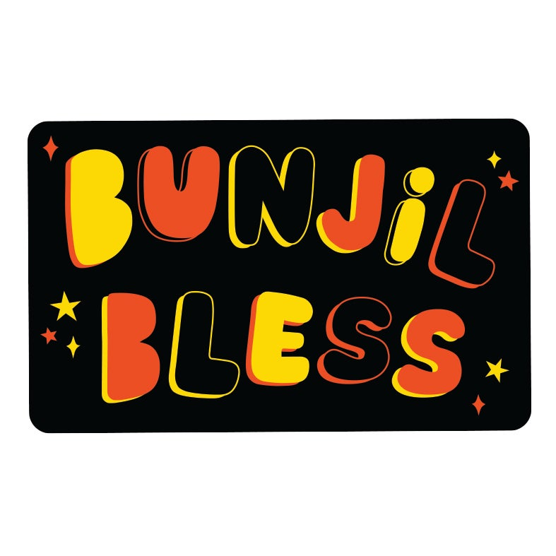 Bunjil bless stickers