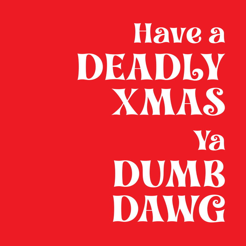 Deadly Xmas card red