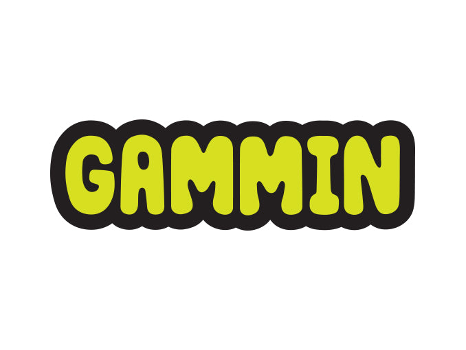 gammin logo sticker