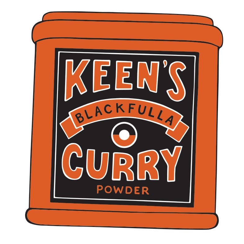 Keens curry vinyl stickers