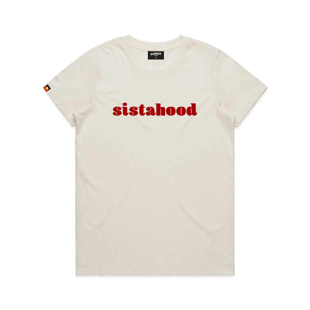 sistahood tee natural