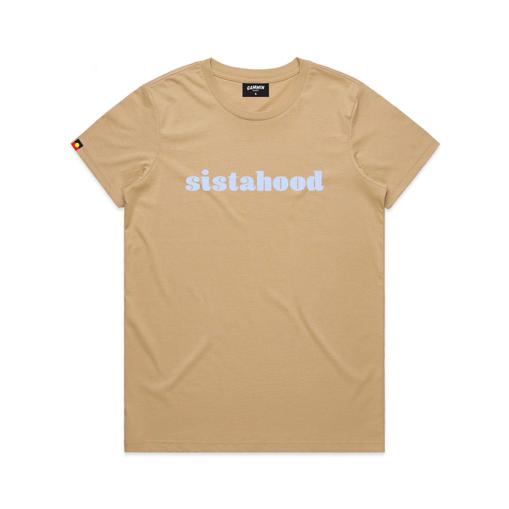 sistahood tee tan