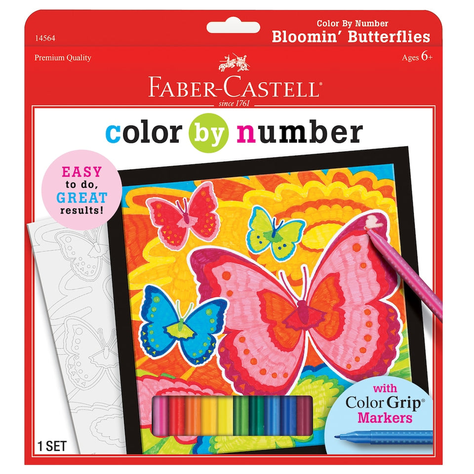 Color by Numbers Bloomin Butterlflies