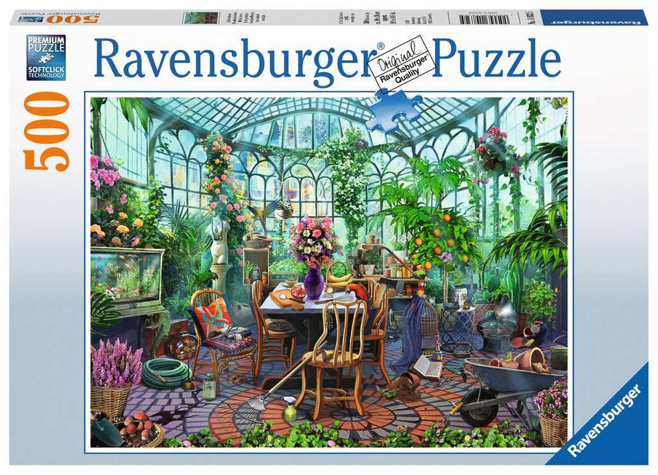 Greenhouse Mornings 500 Piece Puzzle