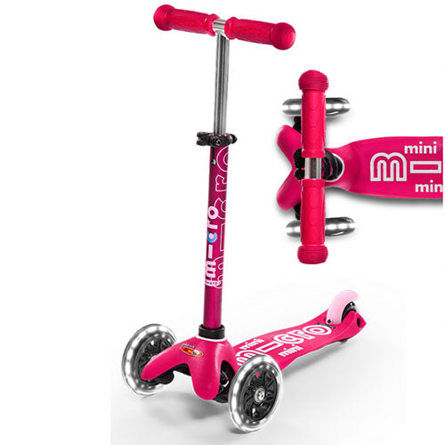 Mini Micro LED Deluxe Pink Scooter