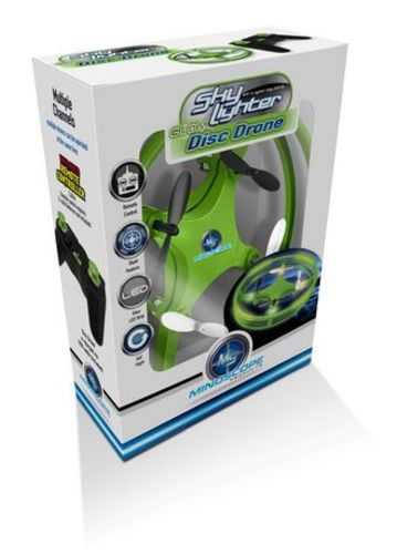 Green Sky Lighter Glow Disc Drone