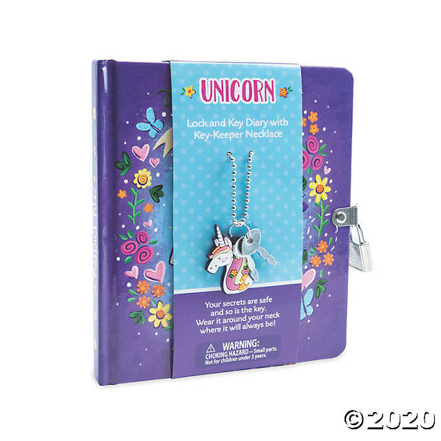 Unicorn Diary With Unicorn Keeper Necklace