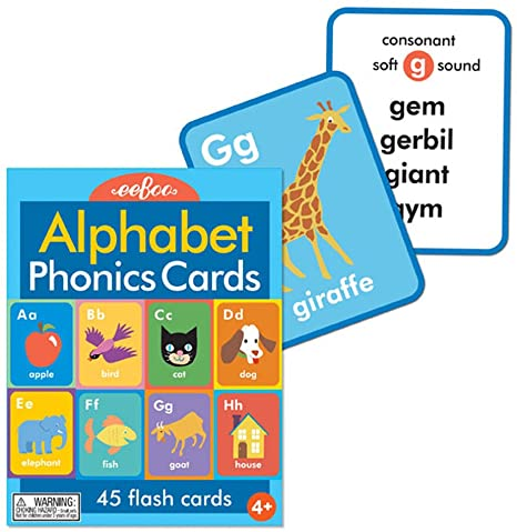 Alphabet & Phonics Flash Cards