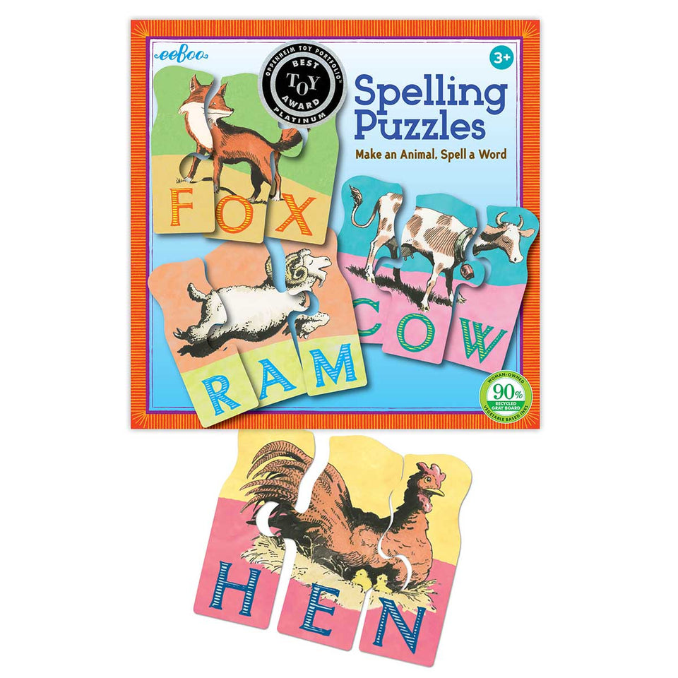 Make an Animal Spelling Puzzles