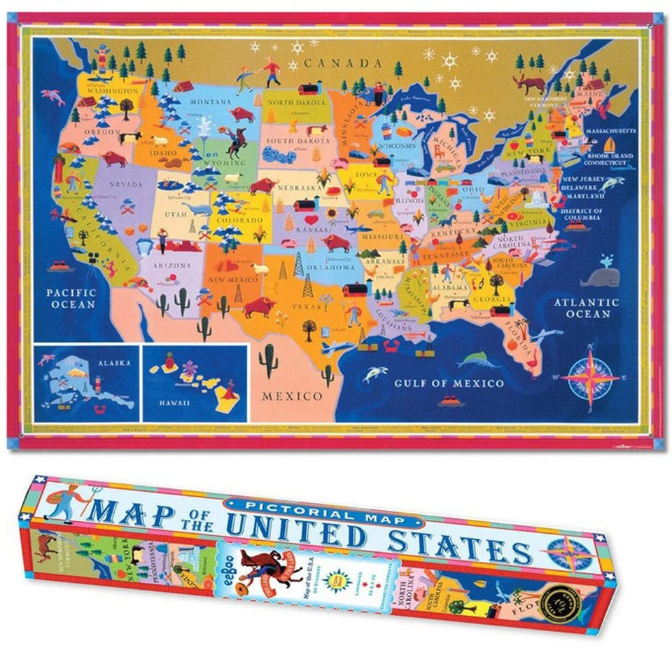 This Land is Your Land Pictorial map of USA