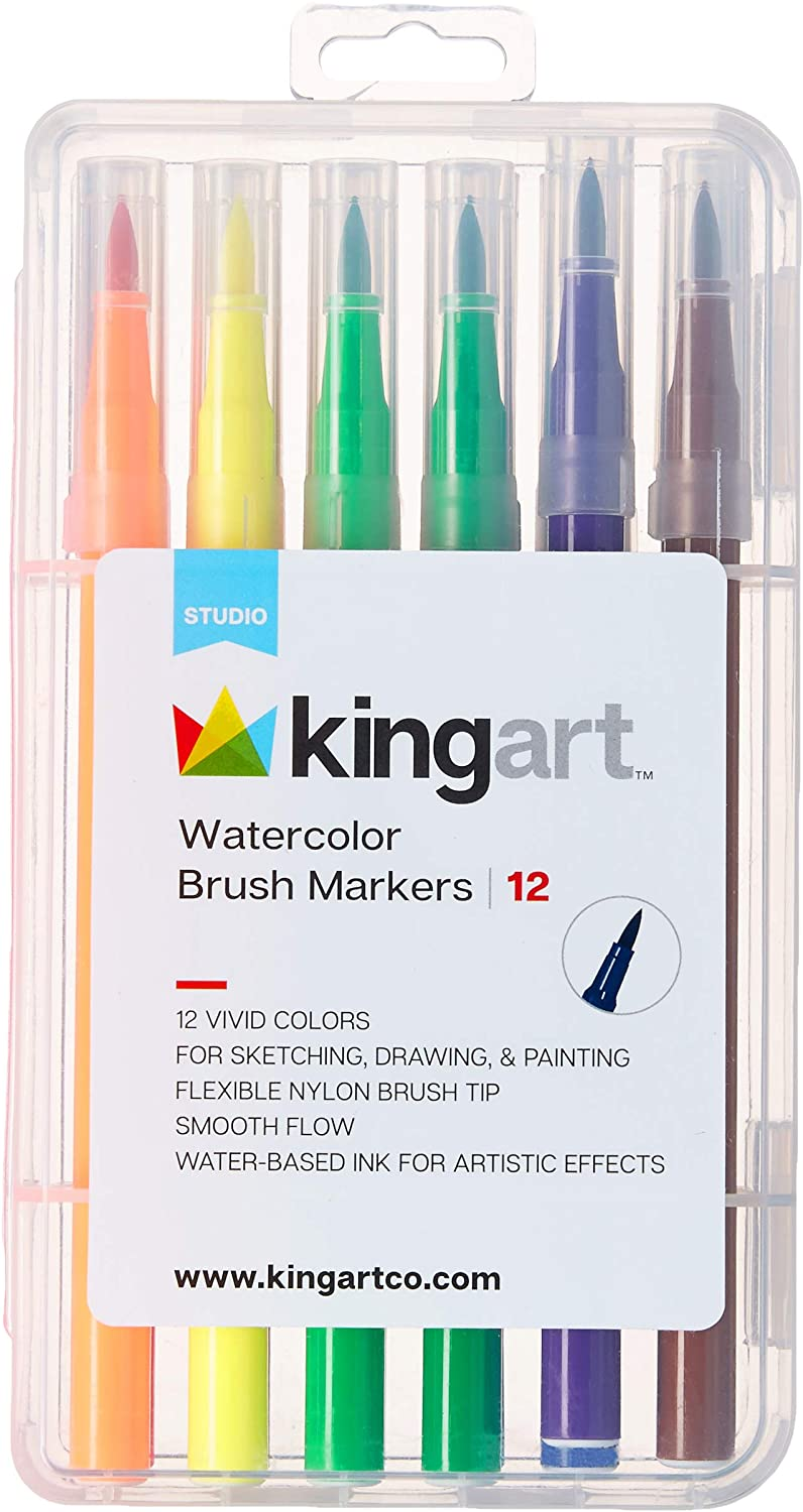 12 Watercolor Brush Markers